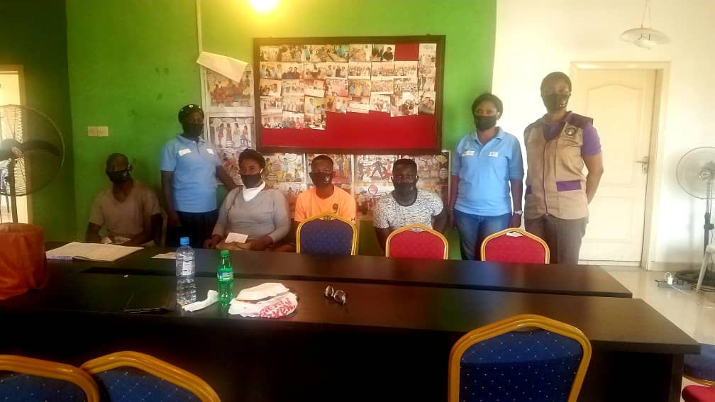 Institute of Social Work of Nigeria (ISOWN) National Conference, November 27-28, 2020 - Visit of the NWAV Help Desk in Lagos for social workers and post-graduate students